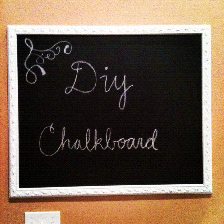 That's it you have your own chalkboard if it becomes worn out just spray the glass again with the chalkboard paint