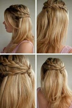 Braid your hair or if you have fringe u can always tie it back😄