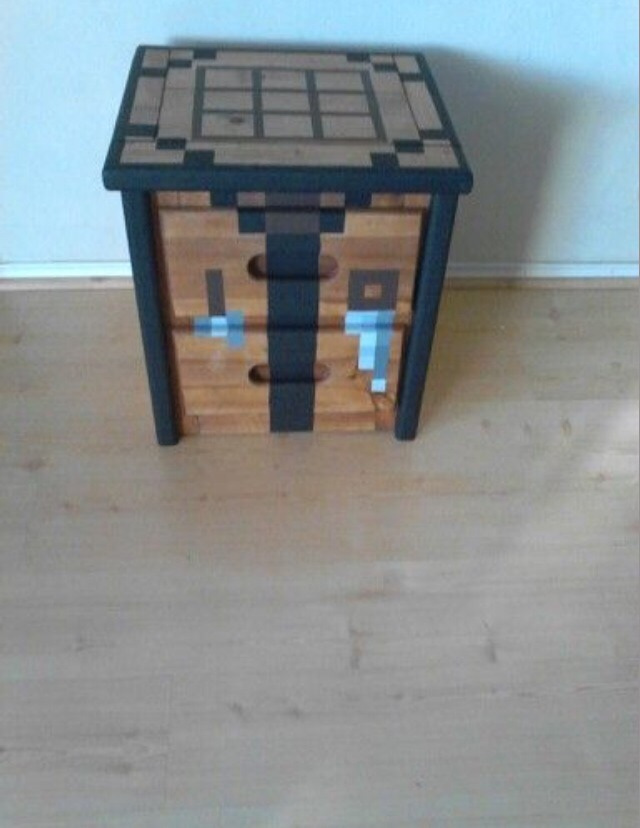 Awesome Minecraft Crafting Table Regular Table Painted Cardboard