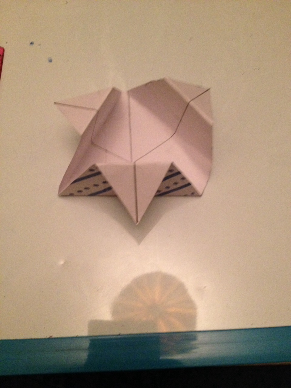 Then fold the corners down