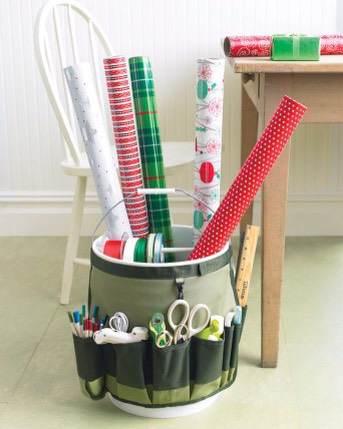 Find instructions here | http://www.marthastewart.com/286590/go-anywhere-bucket-for-wrapping-paper?czone