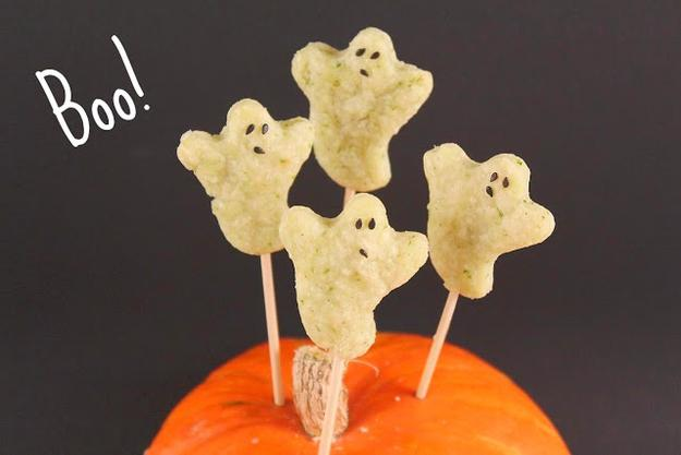 Sour Cream and Chive Ghost Crackers  http://www.spcookiequeen.com/2011/10/sour-cream-and-chive-cracker-recipe.html