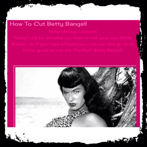 How to cut the cool retro bang you've longed for, in the comforts of your own home!