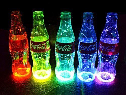 Glow sticks in bottles