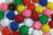 Glitter pom poms.  You can Find a bag of them at any crafts store for around $3.