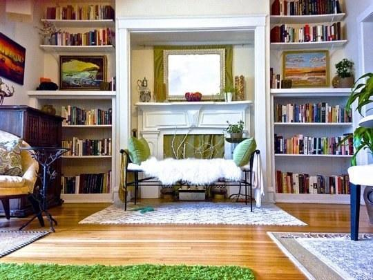 Use rugs to separate one room into smaller spaces
