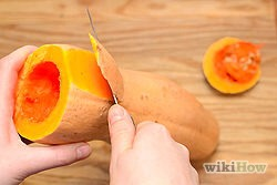 5) Peel the skin in a downward movement in the same manner that one would skin a peach.