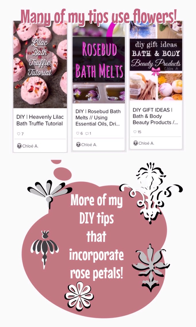 Be sure to check out my other DIY tips. They include: +Foaming Face &Body Washes + Face Cleansers for Combination, Oily, Dry & Sensitive Skin Types, as well asAcne Treatments + Lip, Face & Body Salt & SugarScrubs +Lip Balm + Solid & Liquid Roll-on & SprayPerfumes +Bath Salts,Melts, Milk Baths &Soaps + so much more!