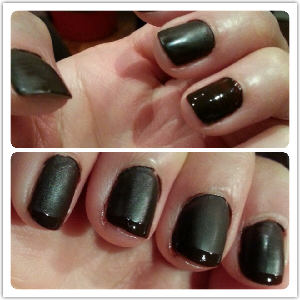 Wait 1-2 minutes.Now you have your matte nails! Please don't forget to follow and friend me(: