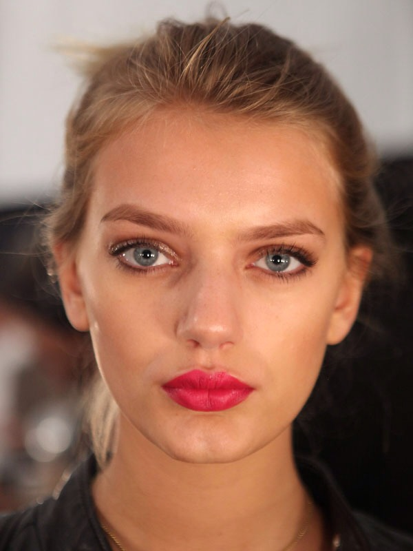 Too warm: top it off with a cool pink gloss. If it's still to warm, dab a white pigment on.
