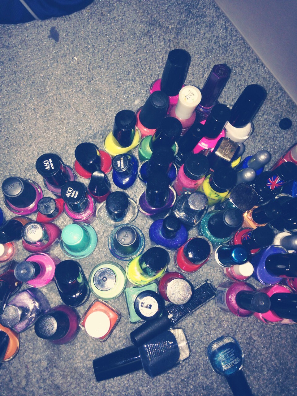 If you're anything like me you have a bunch of nail polishes and you have to dig them all out to see the color each time you go to get a new one. I will show you how to make it so you can see the color avoiding all the hassle