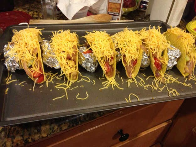 25. How to Keep Your Tacos Standing When You Broil the Cheese