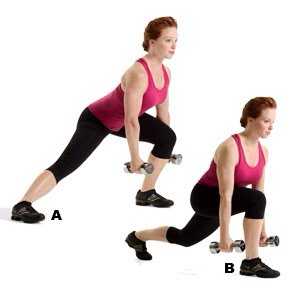 MOVE 3 Lateral Reverse Lunge-Reach Combo  SETS: 3REPS: 12 to 15REST: 30 seconds Works hips, glutes, hamstrings, and quads
