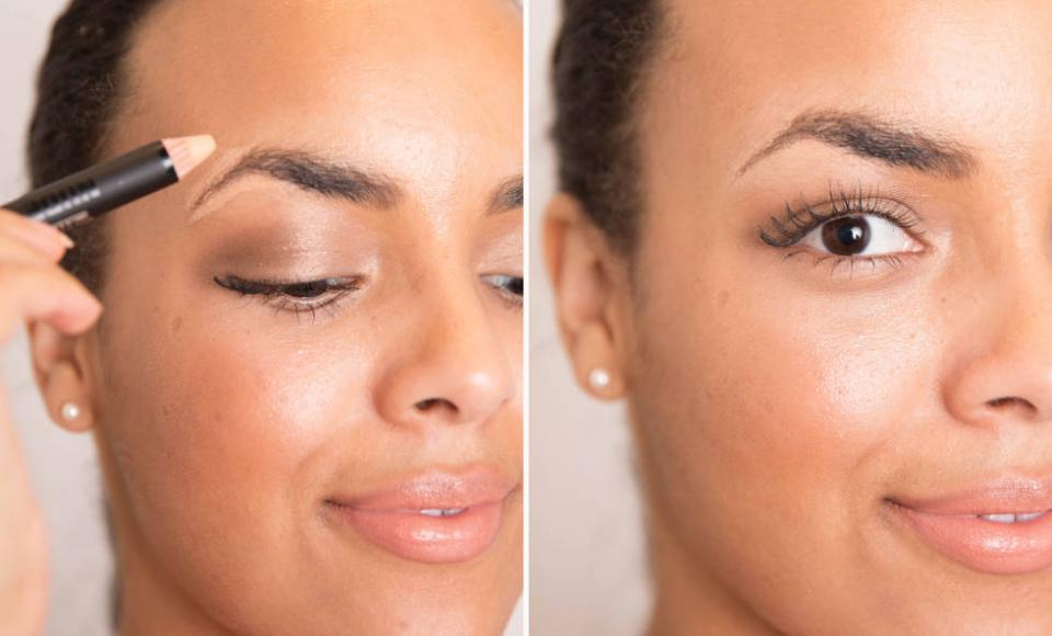 16. Make your brows pop by lining them above and below with a concealer that's one shade lighter than your skin tone. Then, blend in the cover-up with your fingertip, since the warmth of your finger will soften the formula and diffuse it more easily than a brush would.