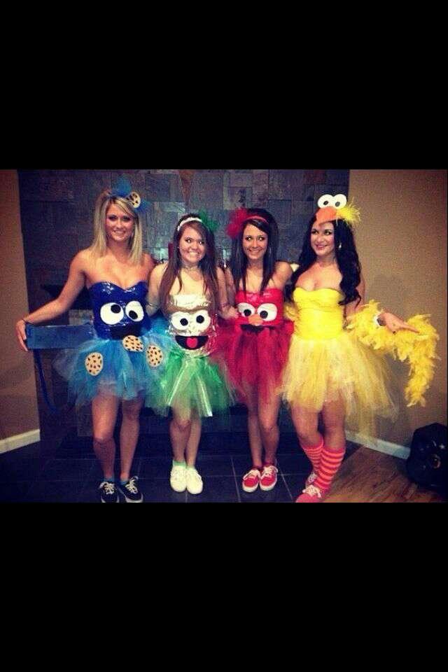 cookie monster/Oscar the Grouch/Elmo/Big Bird