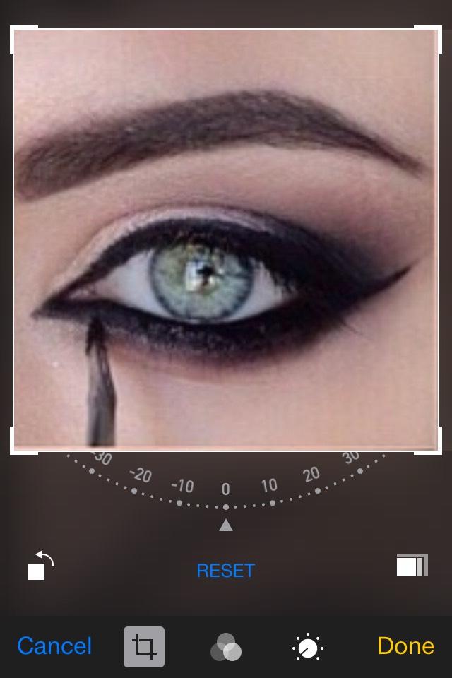 Apply eyeliner to bottom and top of eye
