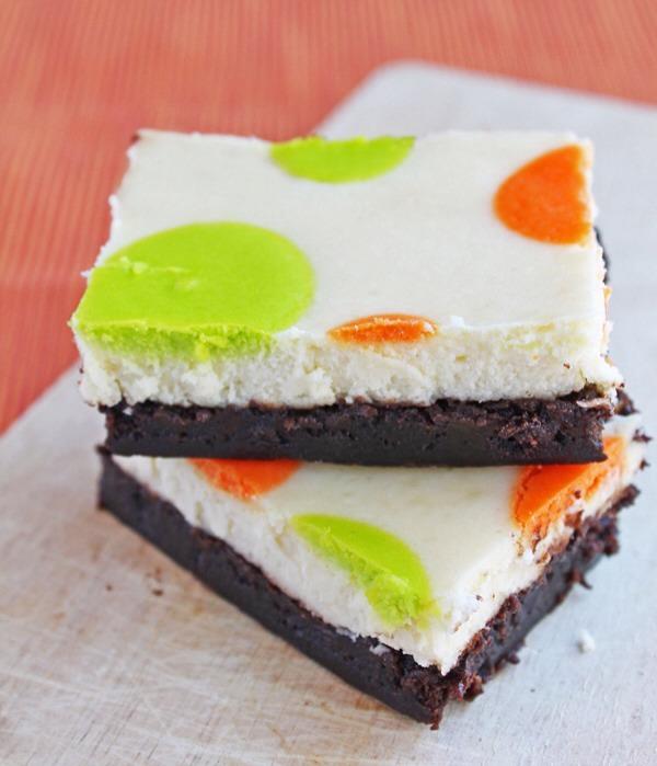 20. Polka Dot Cheesecake Brownies