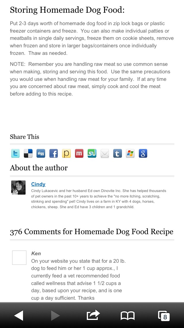 Homemade Dog Food -- Great For Dogs