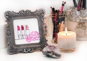 Add candles, picturesand precious rocks for a nice look
