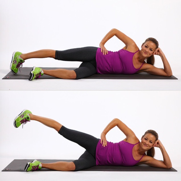 1 MINUTE SIDE LEG LIFTS - take your time AND BREATHE these out - after the work your legs have done they'll be ready to rest soon :)