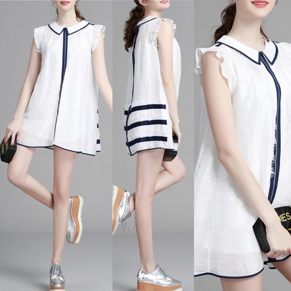 $54.00 http://m.romwe.com/White-Lapel-Ruffle-Sleeve-A-Line-Dress-p-151303-cat-664.html