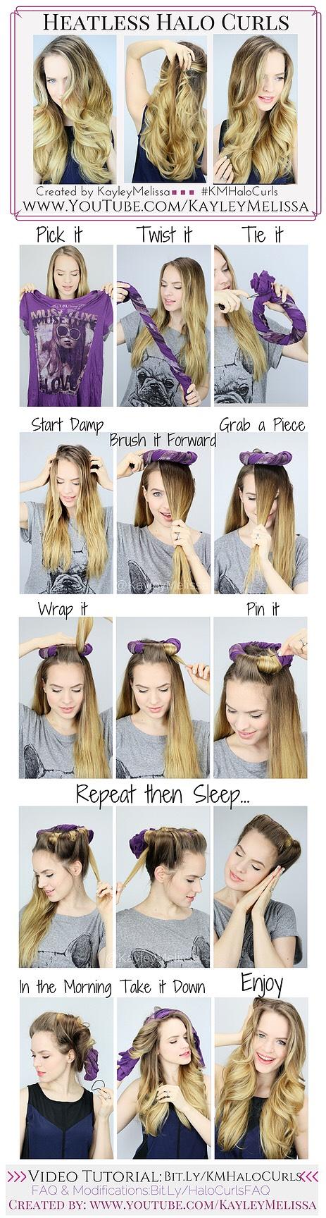 4) heatless halo curls!