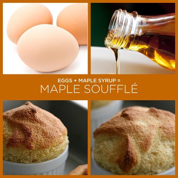 Eggs + Maple Syrup = Maple Soufflé