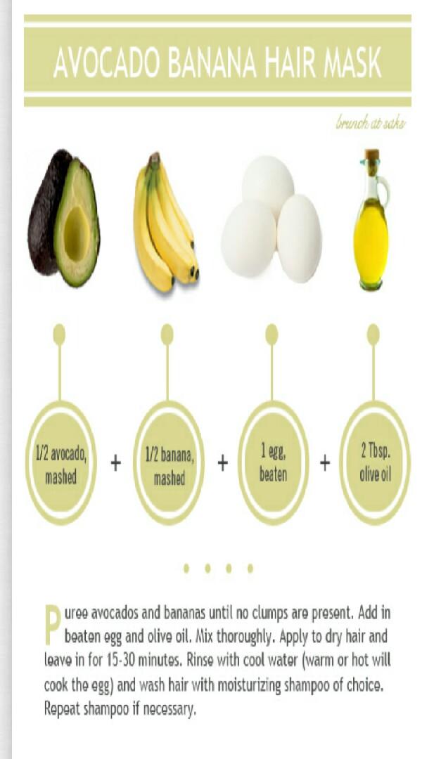 Diy Dry Hair Avocado And Banana Hair Mask By Danielle Young