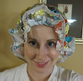 Spread evenly.  Once the treatment is dispersed evenly, wrap your hair in either a warm towel OR do what I did and cover up with your favorite shower cap.  Wait 30 minutes and wash out (with both shampoo and conditioner)