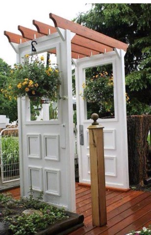 And lastly, make your own walkway with a few old doors