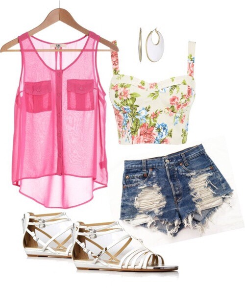 This outfit is great for the beach so u can wear your bathing suit under it.
