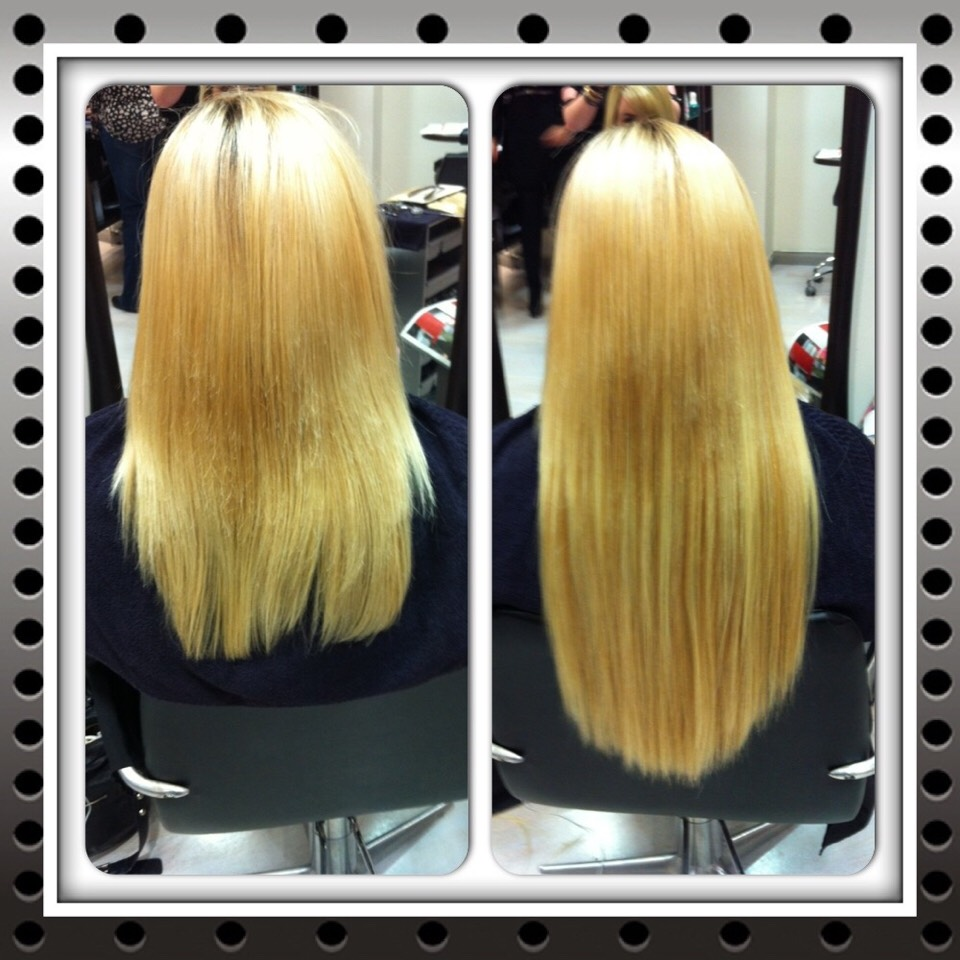 Your hair will grow thicker and healthier!  If you have dead ends but don't want to cut your hair.. this product helps!! Non greasy to hair with perfect silky smooth hair