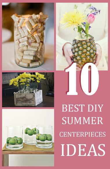 collection of summer centerpiece ideas !