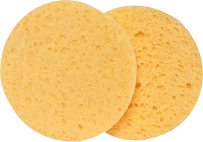 Any kind of soft, facial sponge will work :) Dip it in the bowl and apply to your skin. Move it in soft circular motions.