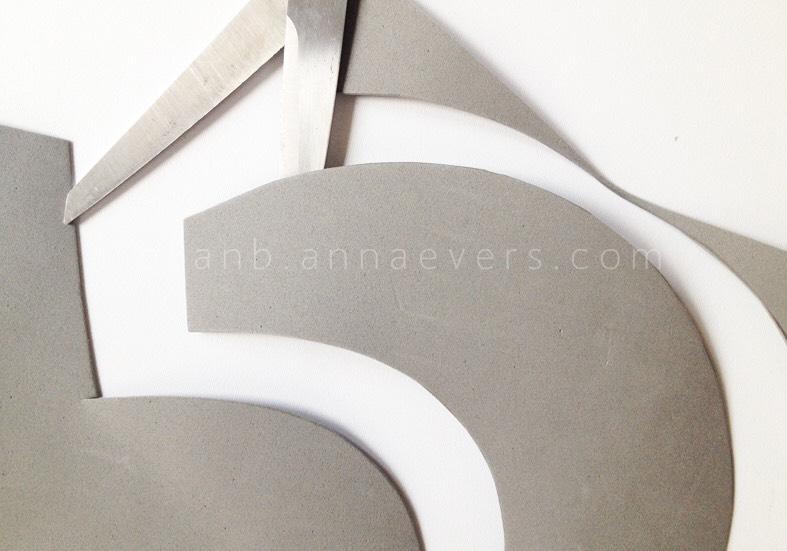 Process:  1. Cut the foam or felt in a bib shape.