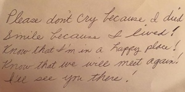 This Woman Left Her Husband Of 60 Years A Note To Find After She Died....,