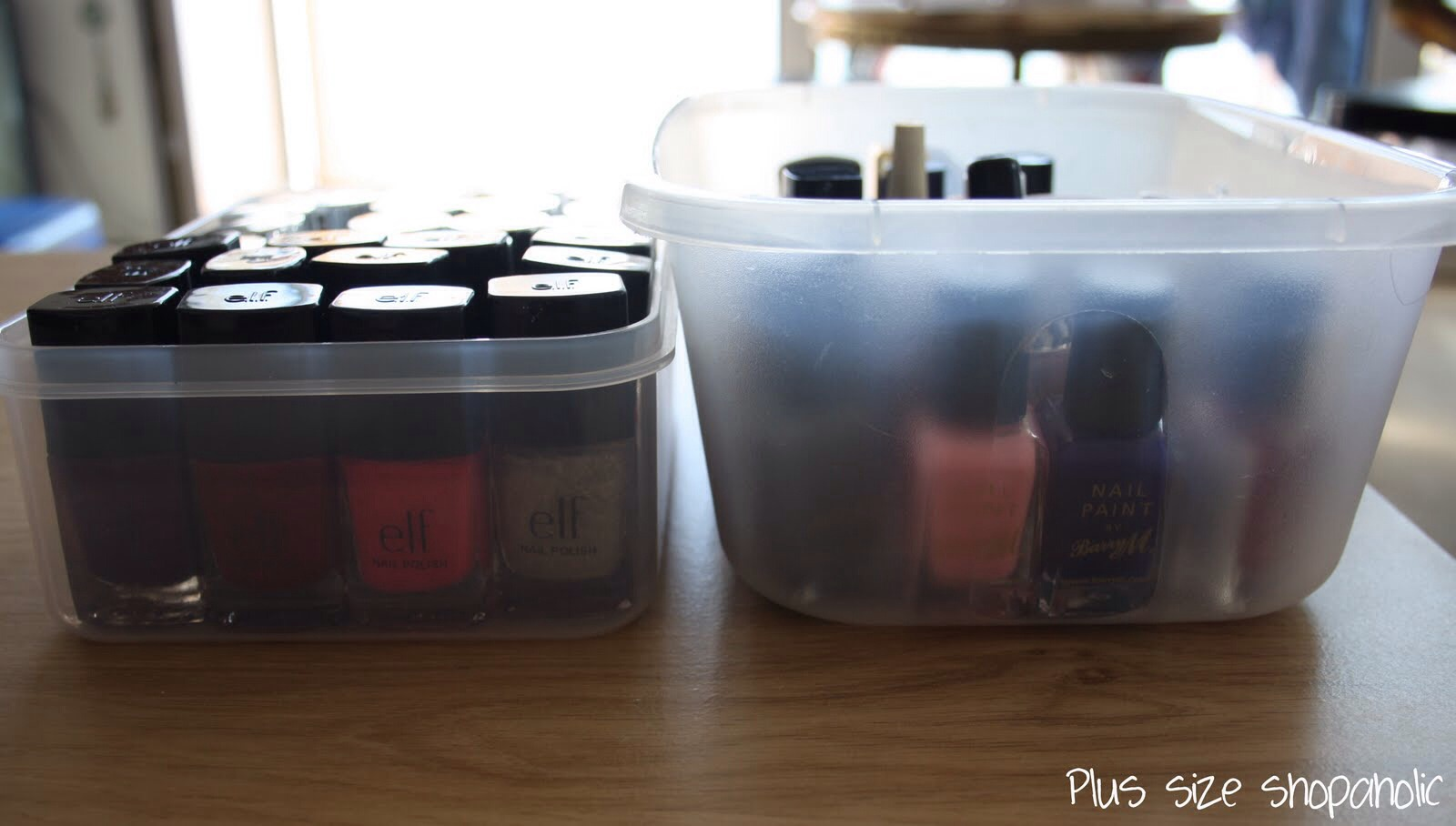 Put your polishes in a container and place in the fridge(I have to admit I got this pic from google mine are in a dirty stained ziplock bag) it helps to keep the polish fresh and it helps give you an easy application I've found it even seems to dry a little faster which makes sense considering-----