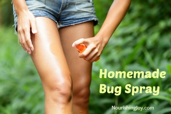 Bug spray 1/8 cup apple cider vinegar 1/8 cup vodka or witch hazel 1/8 cup water 80 drops mixed essential oils, neem oil, or four thieves oil Pour all ingredients into a small spray bottle and shake well. Apply often. Variation: Catnip has been shown to repel insects very well