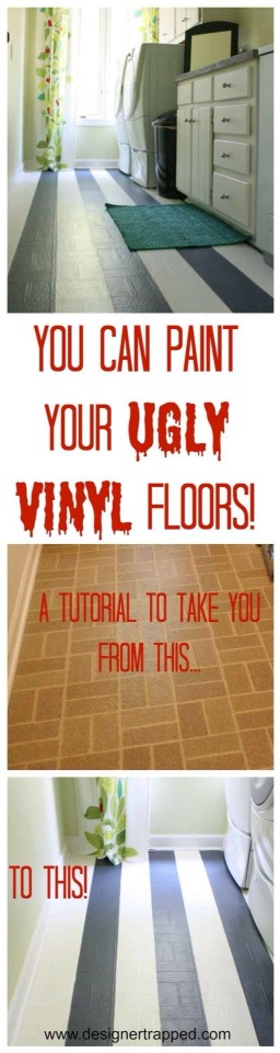 1. Paint your vinyl or linoleum flooring.