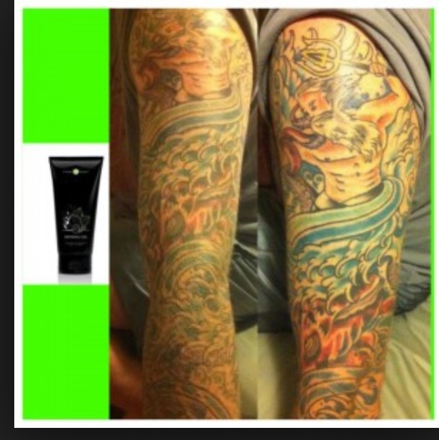 Defining gel helps to bring back color on your old tattos