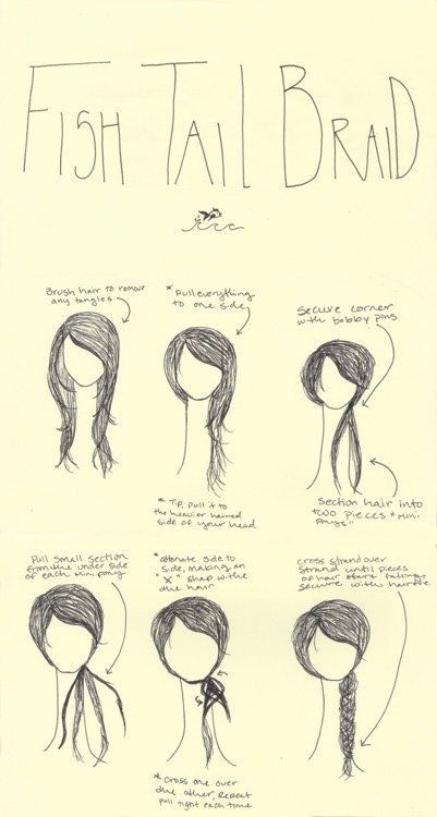 How to fishtail braid🐠🐟🐡