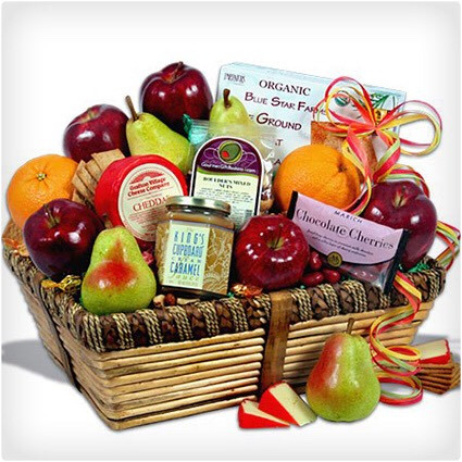 Healthy fruit gift basket