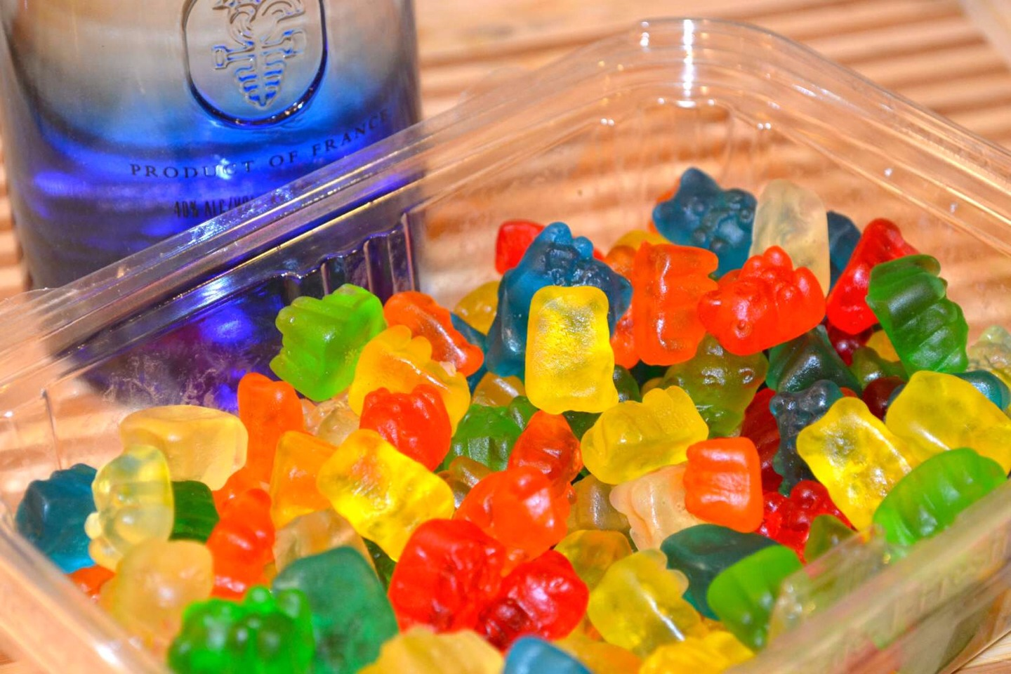 The vodka will absorb into the  gummies, and you can have them later!  ✨Remember to like, share and save!