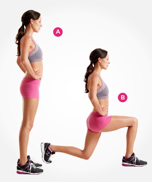 10 lunges (each leg)  20 all together