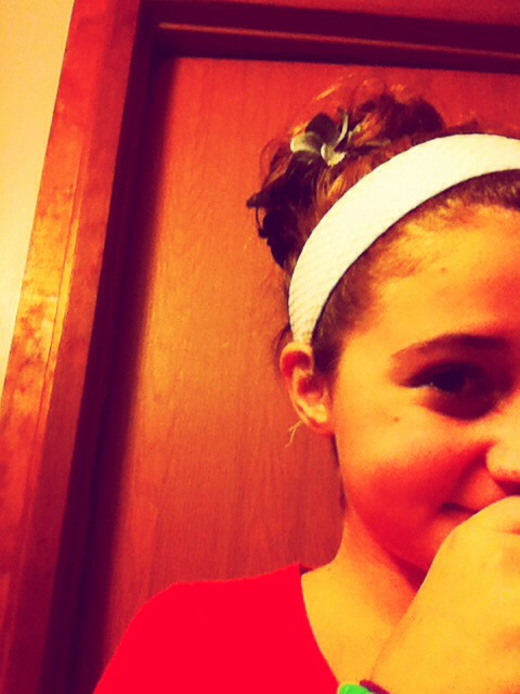 Put your hair into any size messy bun. If you don't know how to do a messy bun do to another tip and come back!(: