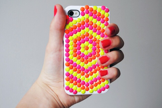 21. Neon Studded Case: Why haven't we seen neon studs before? We definitely need to stock up on these!