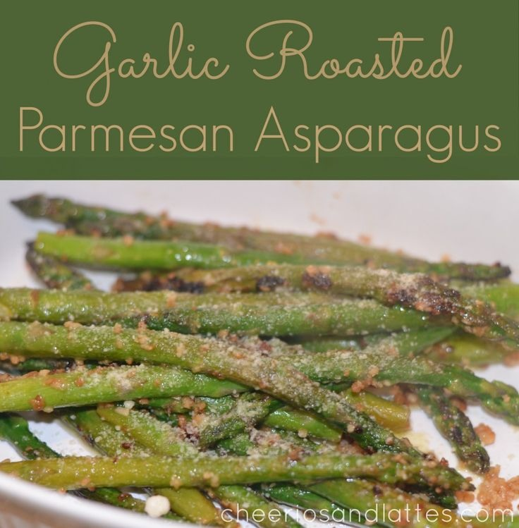 Cut stems about two inches off. Rinse them put in frying pan cover with water add salt . Cook until you can stick fork in them. Drain, with same pan add olive oil just to cover bottom of pan return asparagus to pan add 3 cloves of chopped garlic brown then add salt pepper and Parmesan. Stir enjoy!