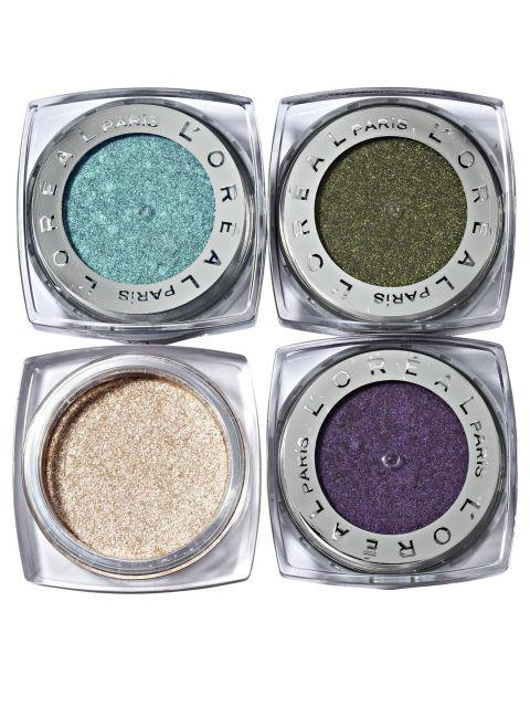 "L'Oréal Paris Infallible Eye Shadow in Endless Sea, Golden Emerald, Iced Latte and Perpetual Purple, $8 each ""Gorgeous colours to choose from, lasts all day and looks fabulous!"""