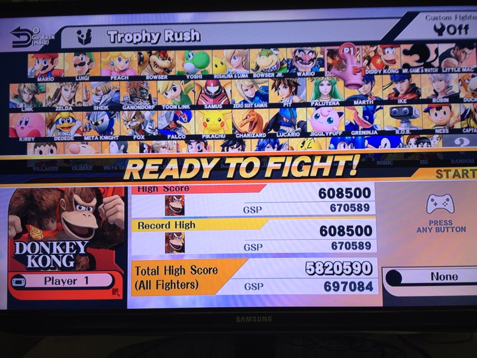 Go to Trophy Rush and choose Donkey kong as your character