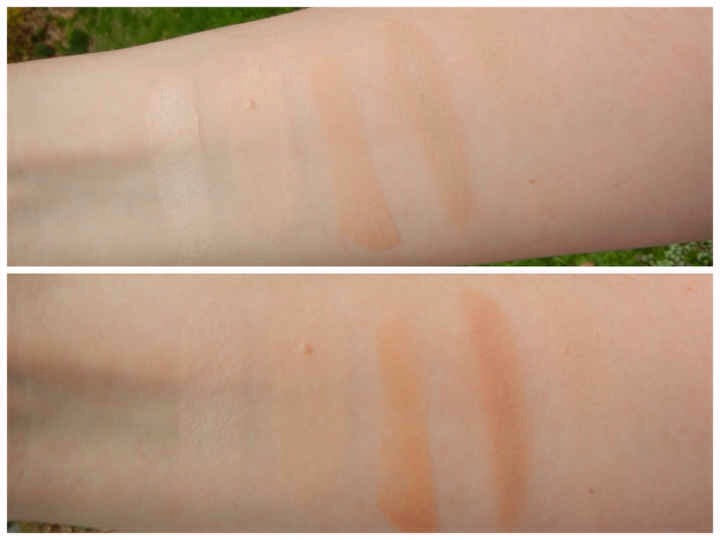 9 |These swatches, photographed right after application + 20 minutes later, show how under eye concealers do change color, slightly.